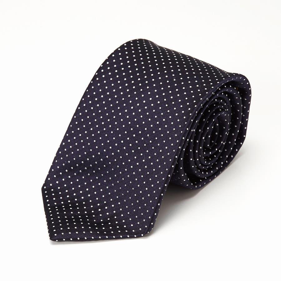 サテン織りピンドット柄 ネクタイ コン 2