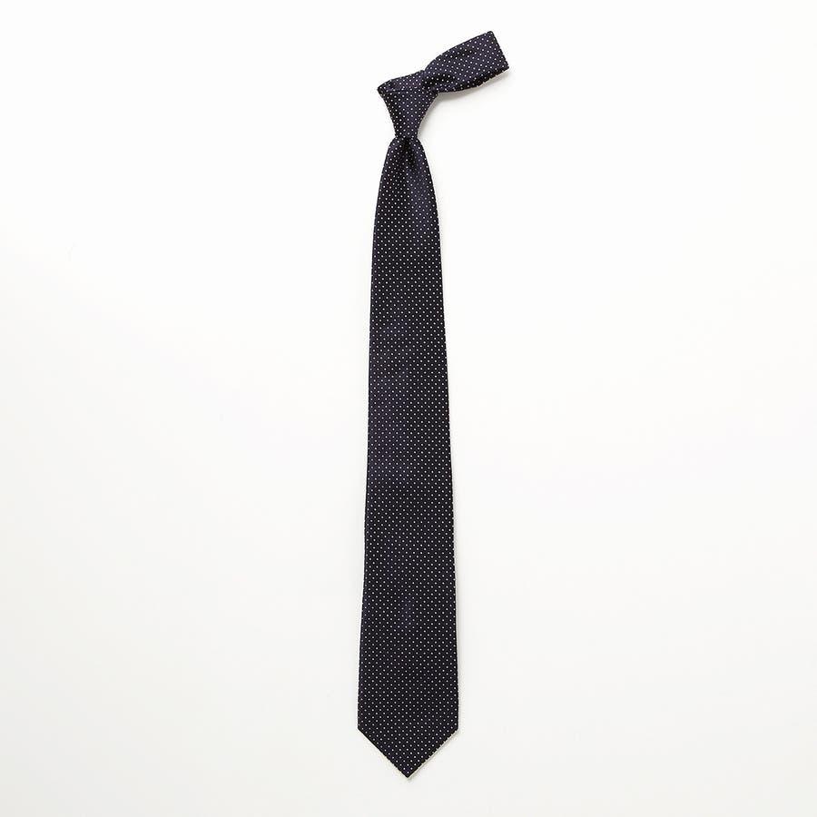 サテン織りピンドット柄 ネクタイ コン 3