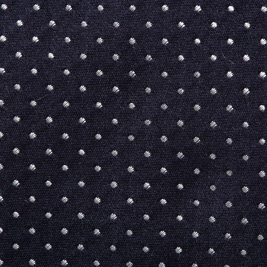 サテン織りピンドット柄 ネクタイ コン 4