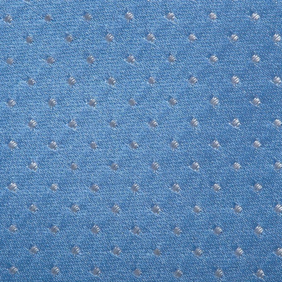 サテン織りピンドット柄 ネクタイ ターコイズブルー 4