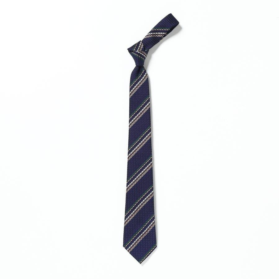 フレスコ織り ストライプ柄 ネクタイ コン 2