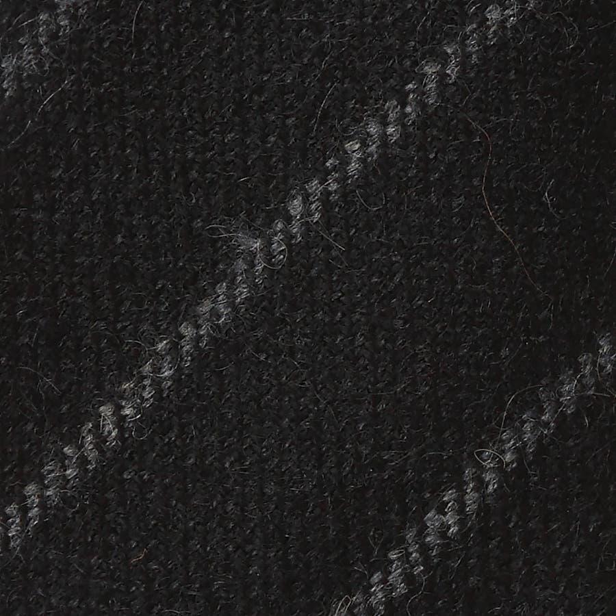 ウール ストライプ柄 ネクタイ チャコールグレー 3