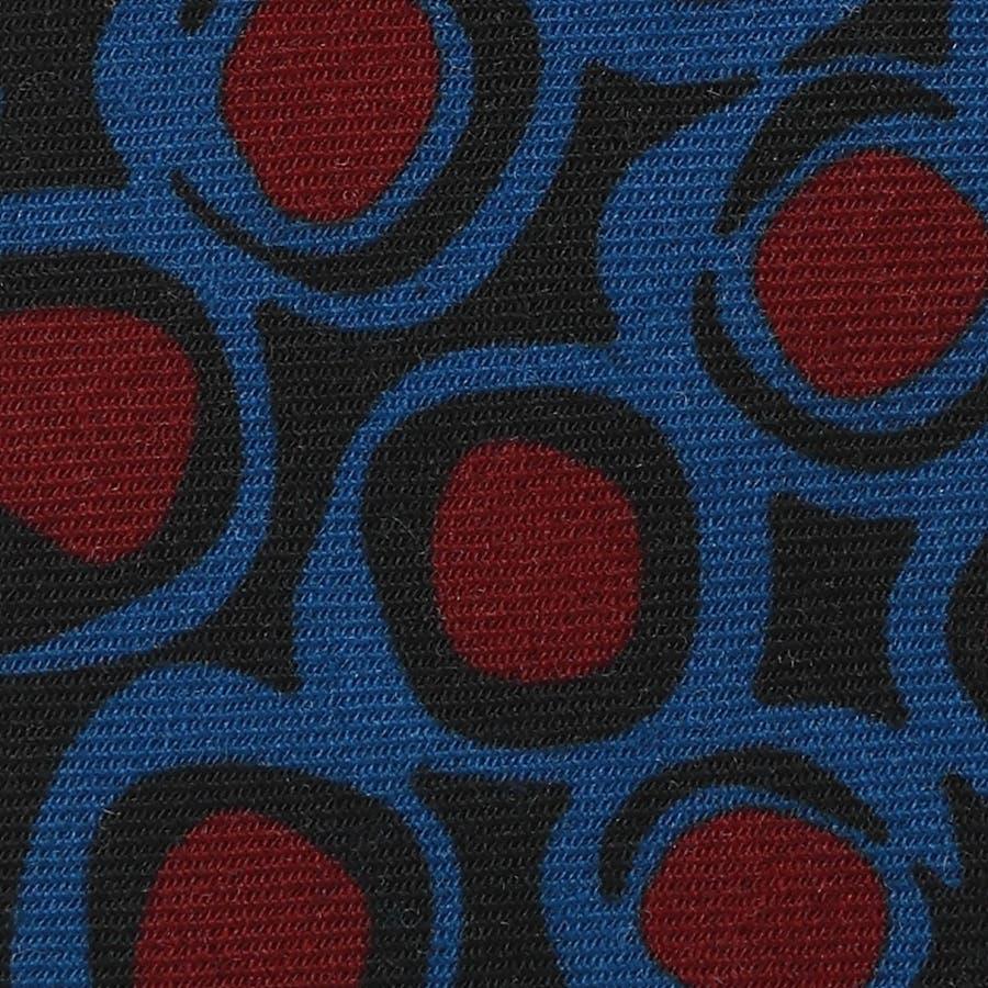 イタリア製ウール生地 ビンテージ調柄 プリントネクタイ Noble ノーブル ブルー 3