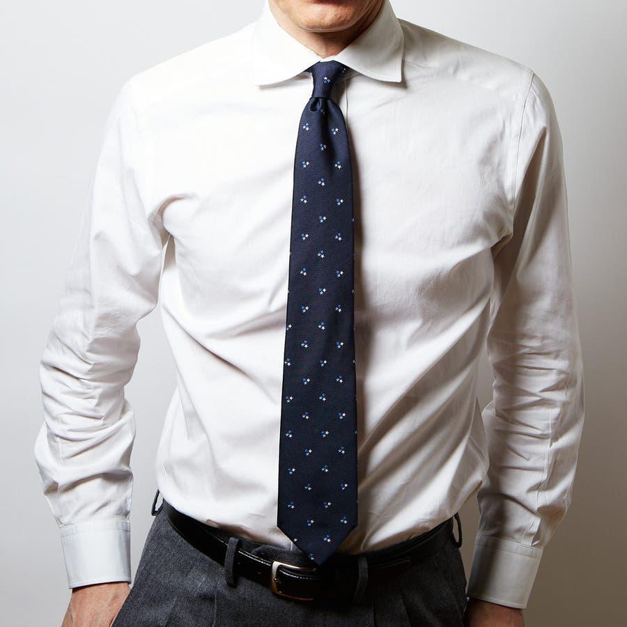 モチーフ柄 ネクタイ ブルー 1
