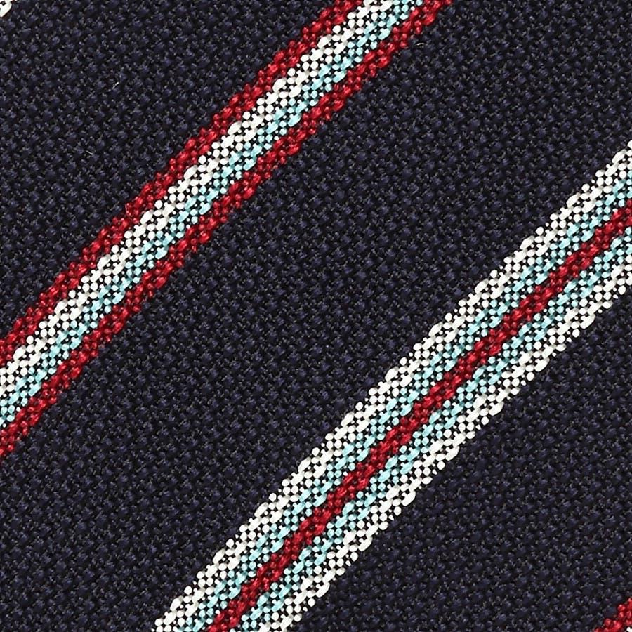 イタリア製生地 変わり織りストライプ ネクタイ Noble ノーブル コン 3