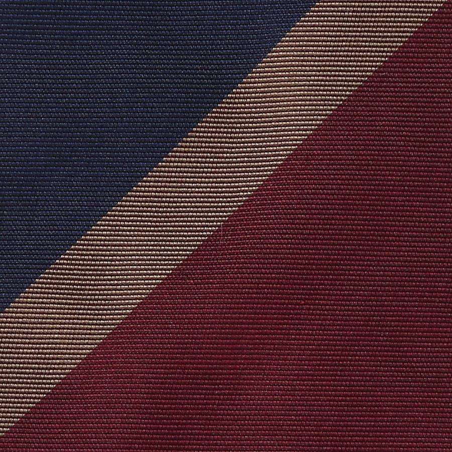 英国製生地 レップ織りビッグストライプ柄 ネクタイ Premium プレミアム ダークワイン 3