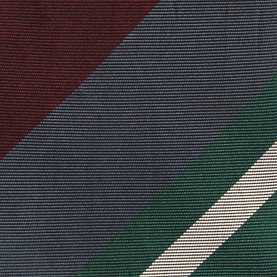 英国製生地 レップ織りビッグストライプ柄 ネクタイ Premium プレミアム グレー 3