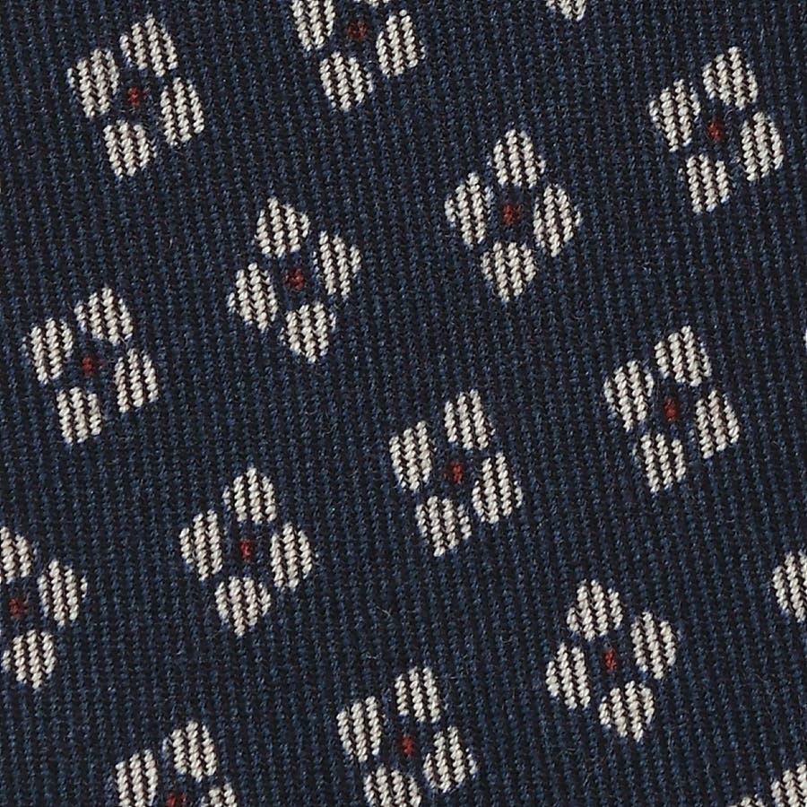 小紋柄 ウールプリント ネクタイ コン 3