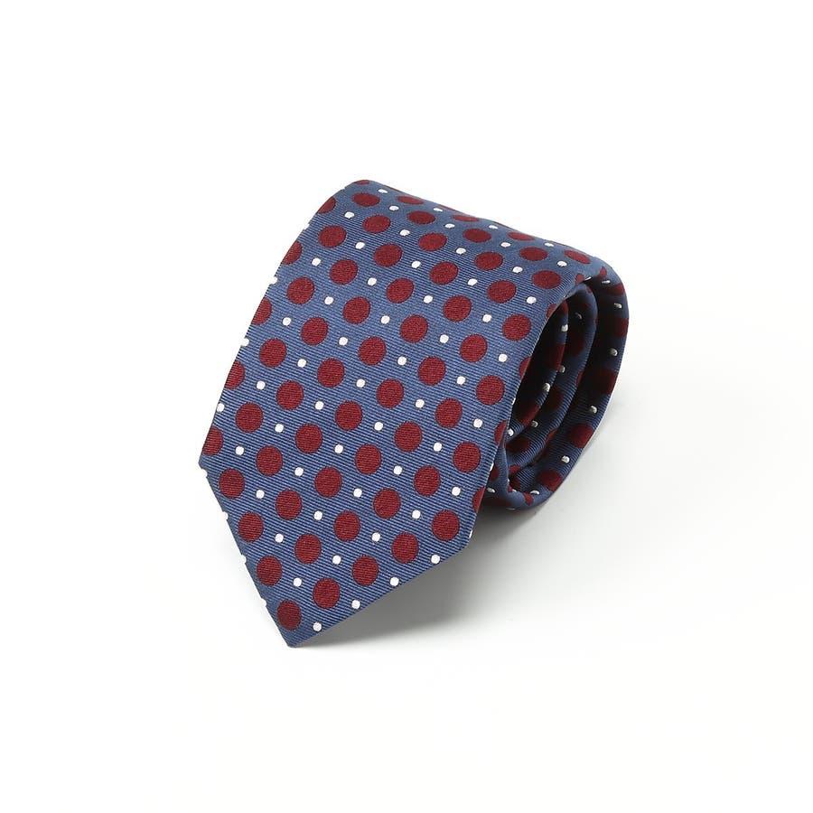 2色ドット柄 ネクタイ コン 1