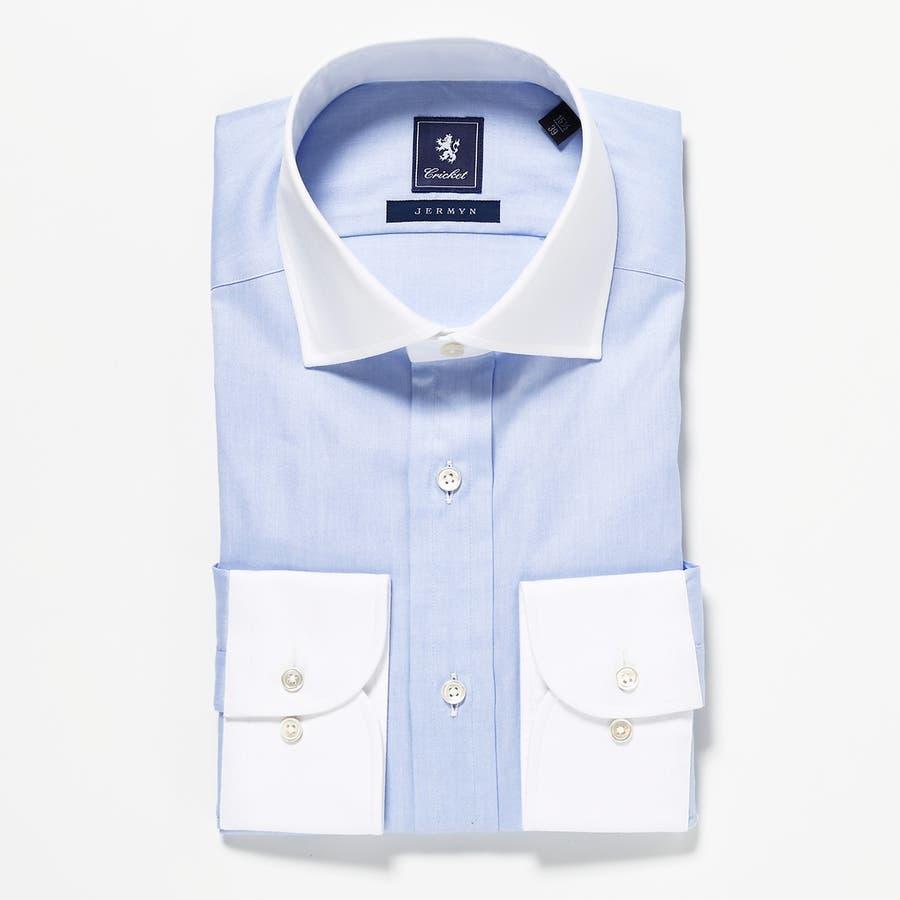 オリジナル マスターシード ピンポイントOX クレリックセミワイドカラーシャツ 日本製 ペールブルー 76