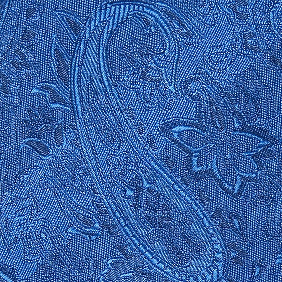 ペイズリー地柄ネクタイ 日本製 Premium ブルー 4
