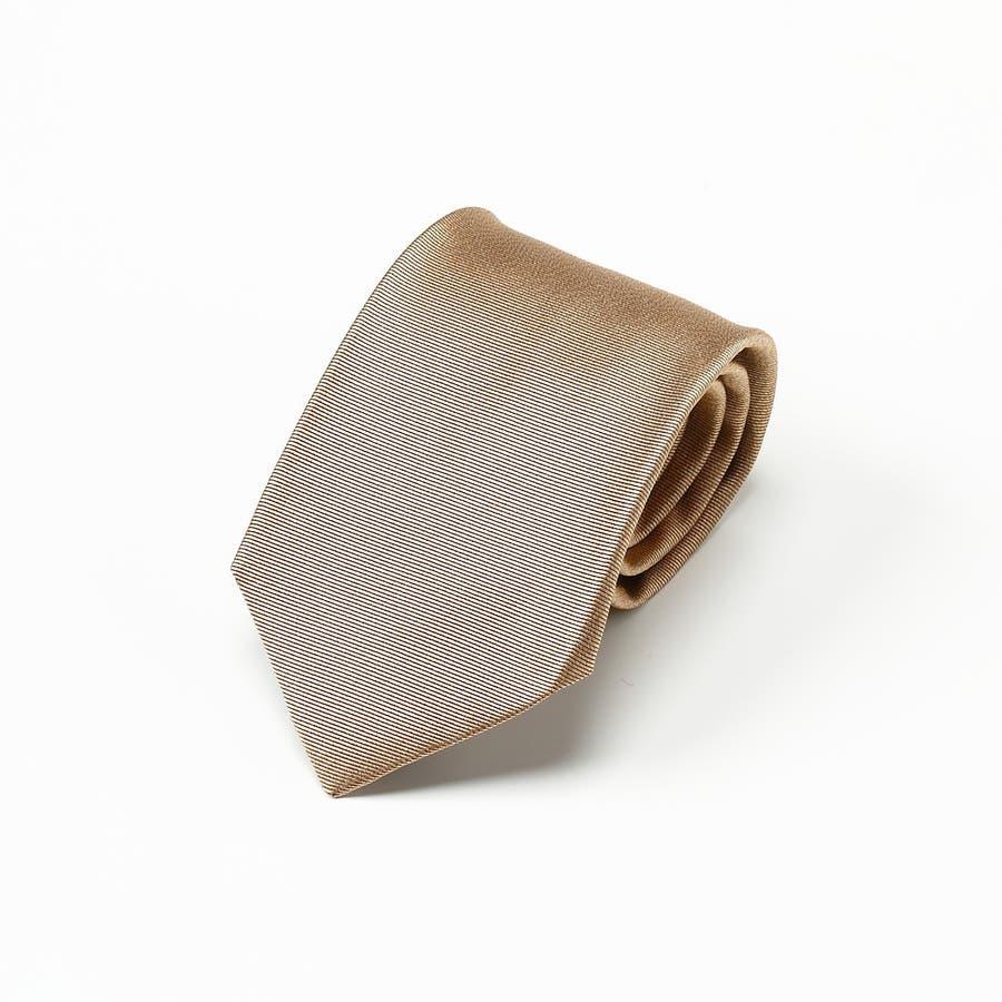 綾織りメランジ無地ネクタイ Premium ベージュ 4