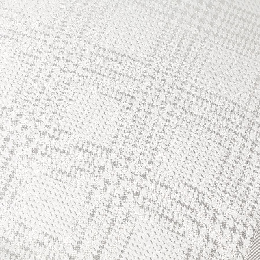 グレンチェック柄ポケットチーフ フォーマル日本製 ホワイト 2