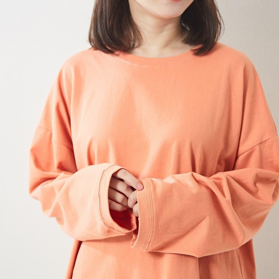 レギンス合わせでジム通いにも使える バックプリント ロンT 大きいサイズ 韓国ファッション 韓国 秋 秋冬 10