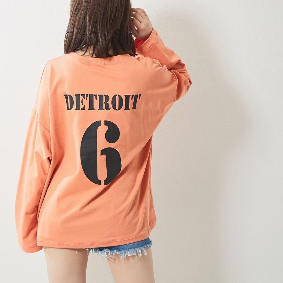 レギンス合わせでジム通いにも使える バックプリント ロンT 大きいサイズ 韓国ファッション 韓国 秋 秋冬 99