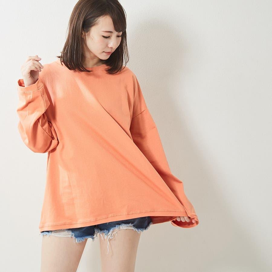 レギンス合わせでジム通いにも使える バックプリント ロンT 大きいサイズ 韓国ファッション 韓国 秋 秋冬 7