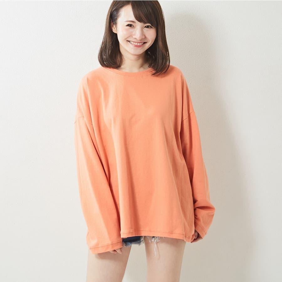 レギンス合わせでジム通いにも使える バックプリント ロンT 大きいサイズ 韓国ファッション 韓国 秋 秋冬 8