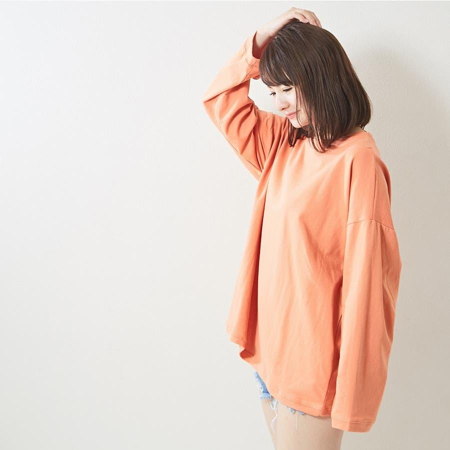 レギンス合わせでジム通いにも使える バックプリント ロンT 大きいサイズ 韓国ファッション 韓国 秋 秋冬 9