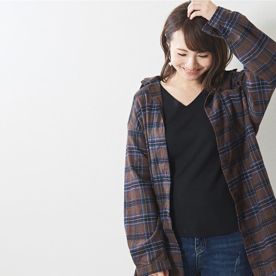 肌触り良く オンオフ使える大人のハイゲージシンプルニット Vネック 韓国 韓国ファッション 秋 秋冬 4