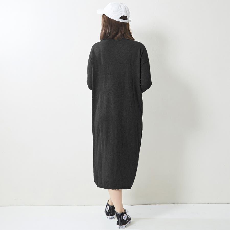 程よく抜け感を出せるニットロングワンピ ニット ワンピース 無地 Vネック 韓国ファッション 韓国 秋 秋冬 4