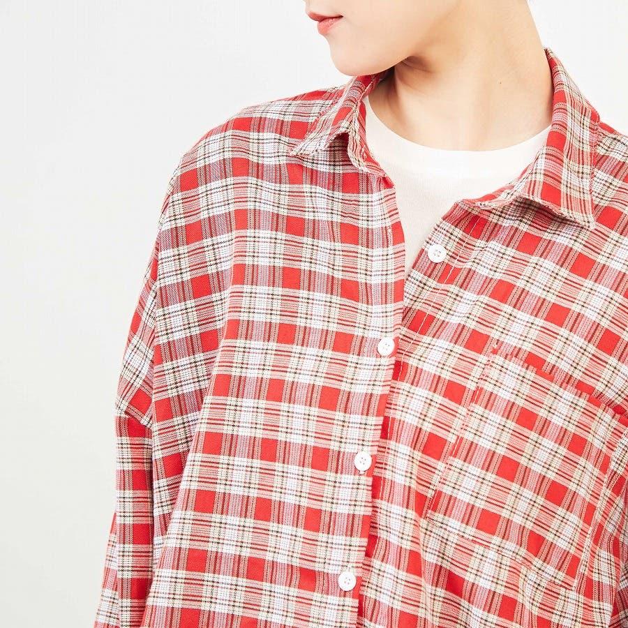 ドロップショルダー チェックシャツ 94