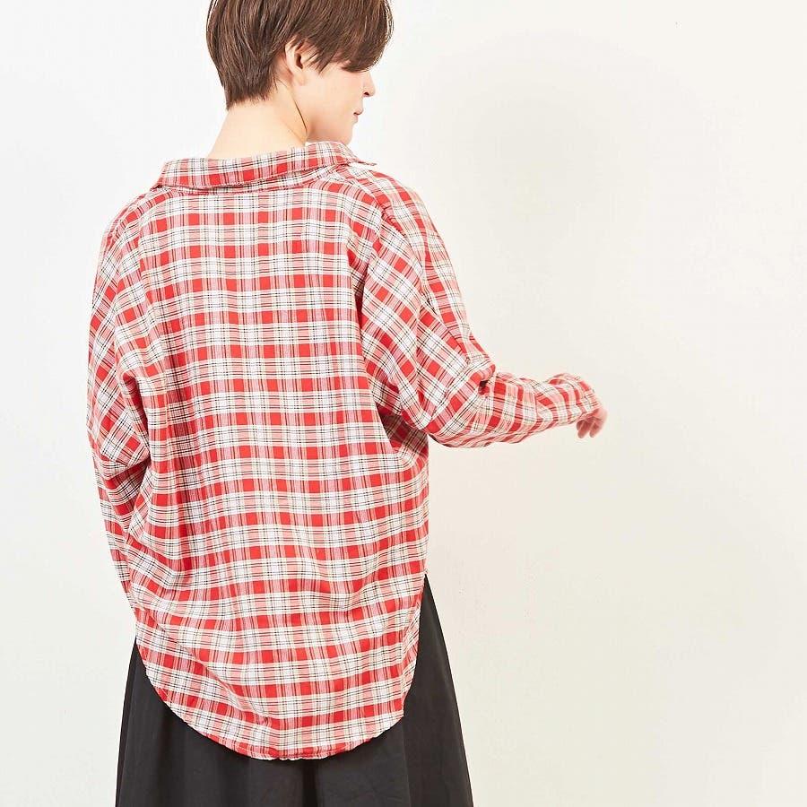 ドロップショルダー チェックシャツ 8