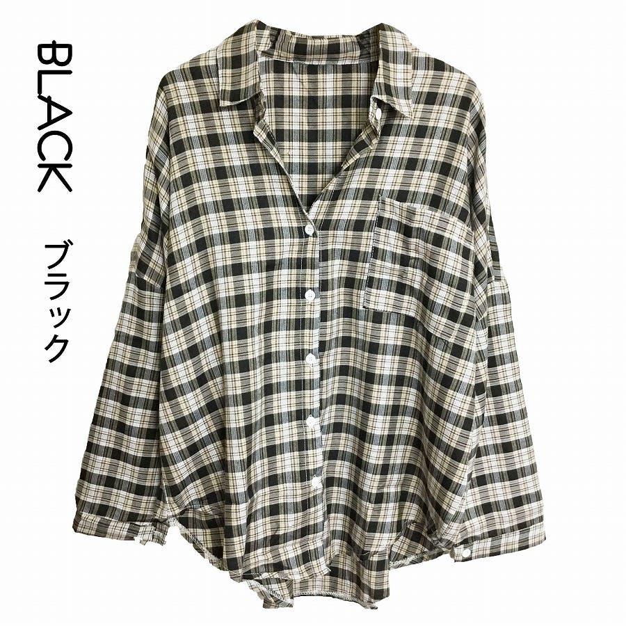 ドロップショルダー チェックシャツ 21