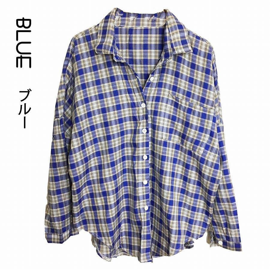 ドロップショルダー チェックシャツ 59