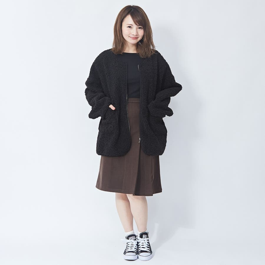 アシメプリーツ タイトスカート 韓国ファッション 韓国 秋 秋冬 冬 5