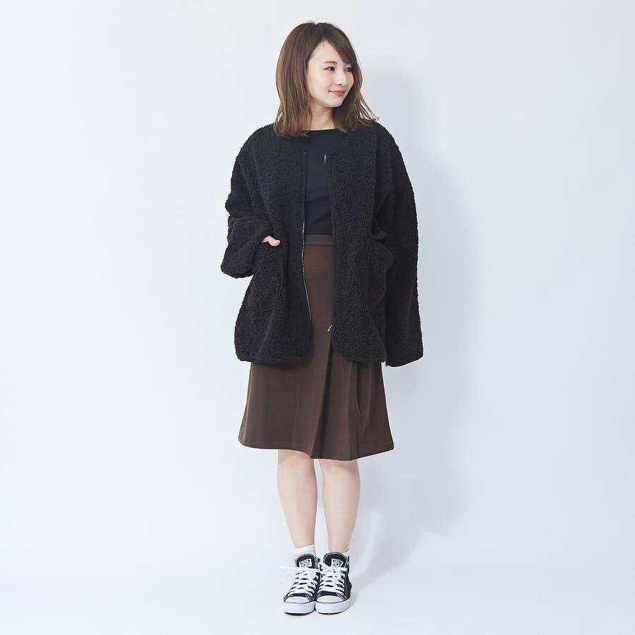 アシメプリーツ タイトスカート 韓国ファッション 韓国 秋 秋冬 冬 7