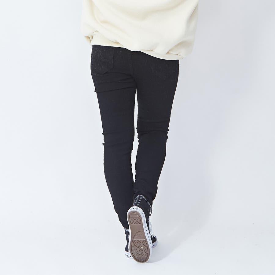 伸びの良いストレッチデニムパンツ スキニー  韓国ファッション 韓国 秋 秋冬 冬 1
