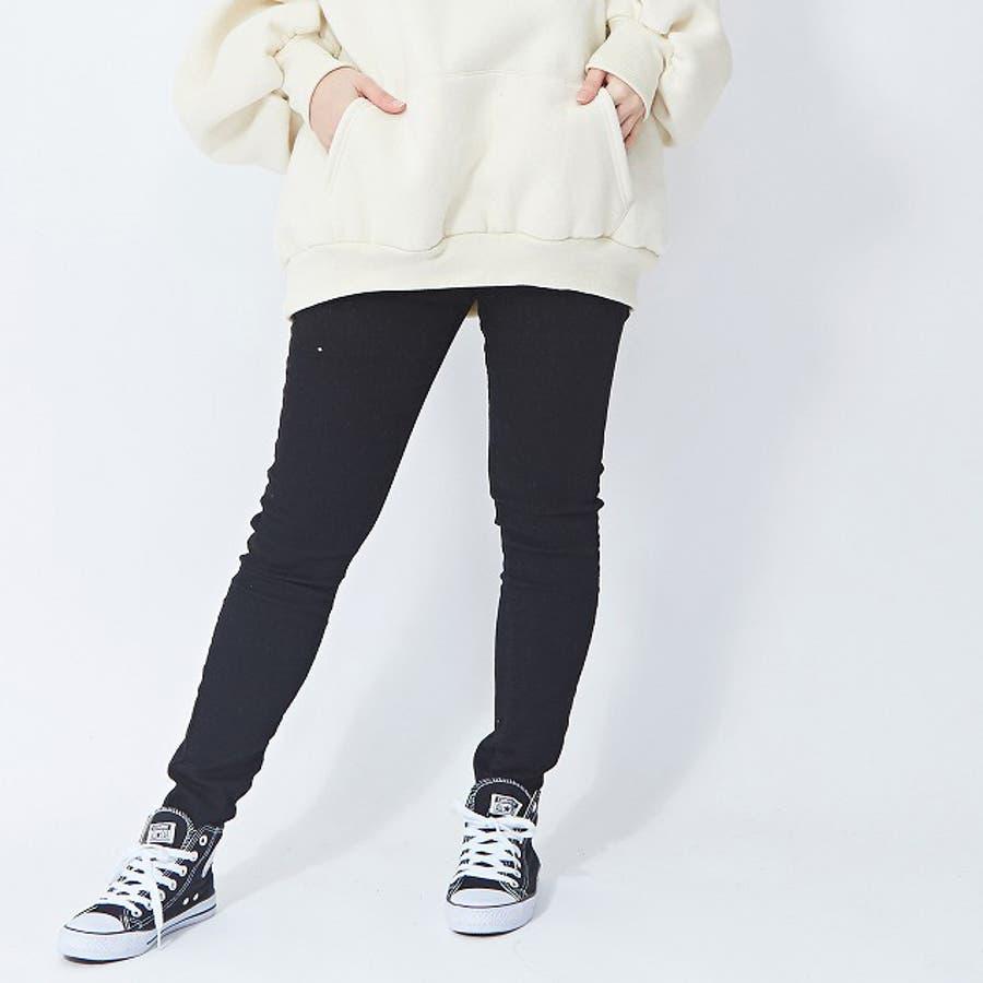 伸びの良いストレッチデニムパンツ スキニー  韓国ファッション 韓国 秋 秋冬 冬 2