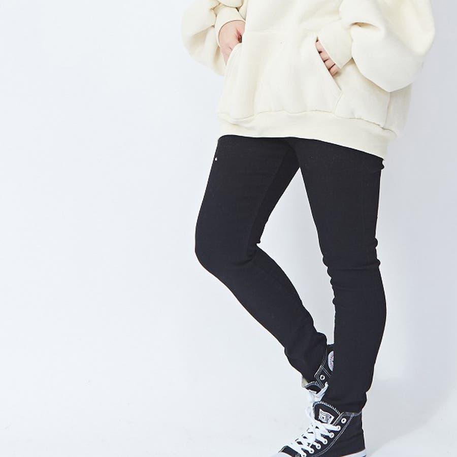 伸びの良いストレッチデニムパンツ スキニー  韓国ファッション 韓国 秋 秋冬 冬 3