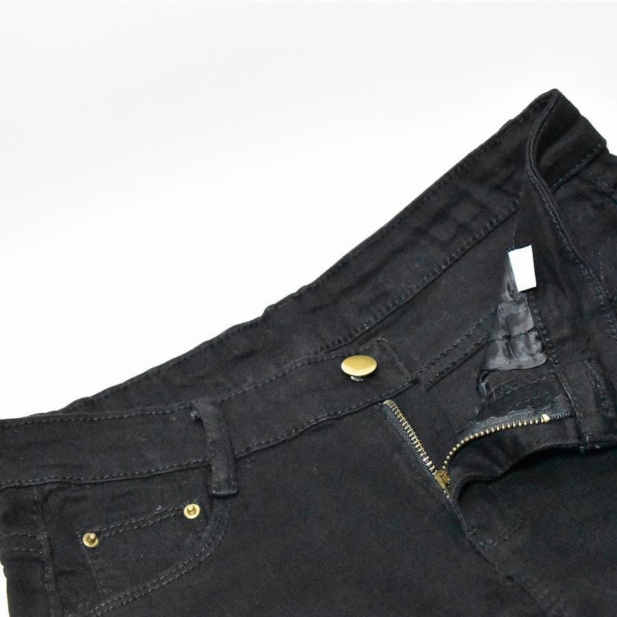 伸びの良いストレッチデニムパンツ スキニー  韓国ファッション 韓国 秋 秋冬 冬 6