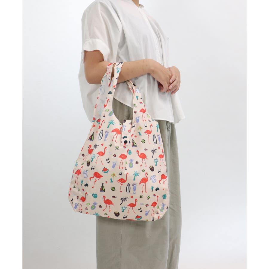 エコバッグ 折りたたみ コンパクト レジ袋 軽量 大 コンビニ ミニ収納バッグ付き アニマル 柄 おしゃれ 買い物バッグ 薄い持ち運びレジバッグ エコ バッグ 93