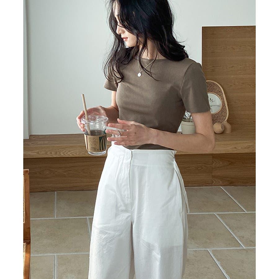カットソー tシャツ レディース 半袖 無地 白 黒 ブラック グレー モカ バックシャン ビッグリボン かわいい カジュアル 通勤 オフィス 35
