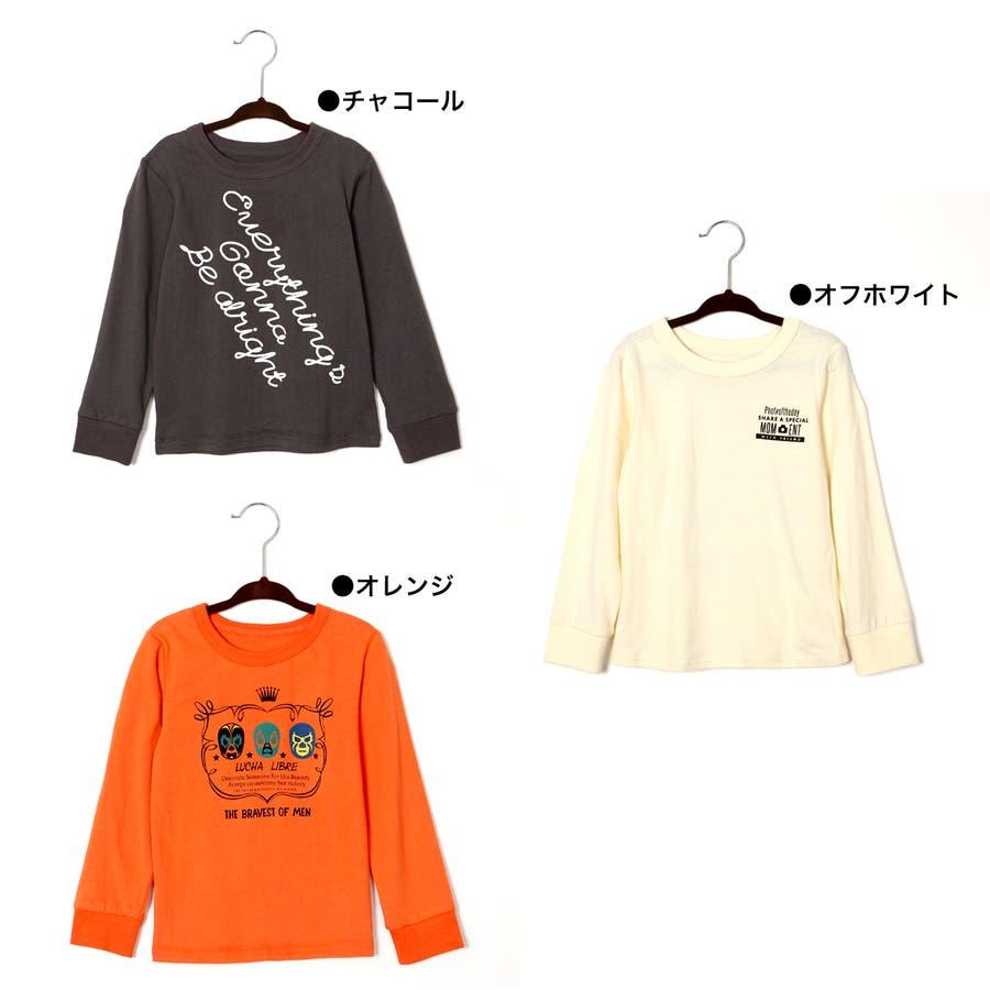 プリントロンT キッズ/女の子/男の子/子供服/春/新作/トップス/ロンT/春先行 3