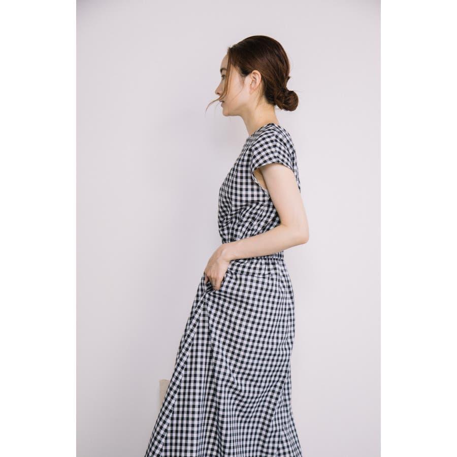 【WEB限定】コットン・チェック・マキシワンピース 9