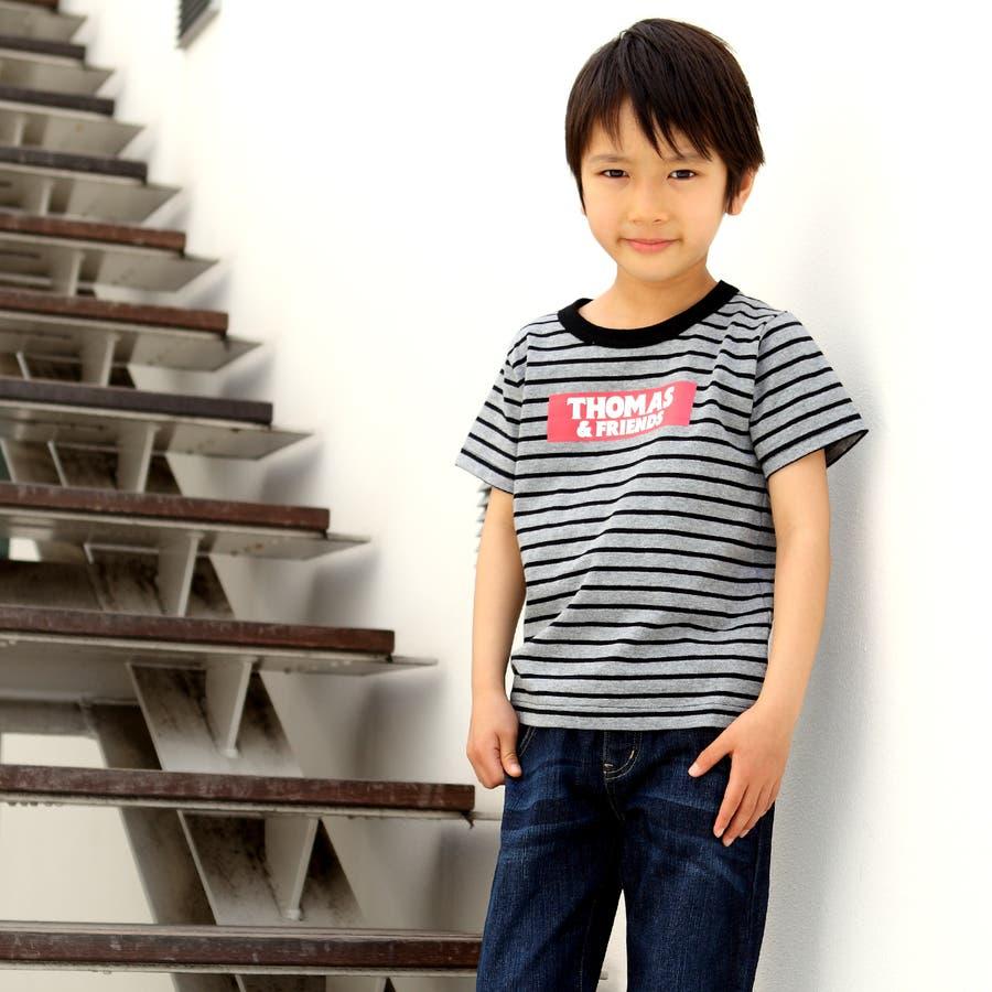 トーマス☆ボーダーTシャツ/キッズ男の子 5