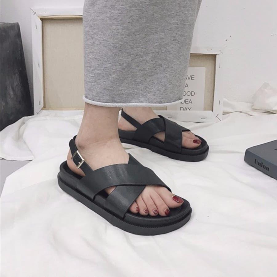 サンダル スポーツサンダル 靴 シューズ 厚底サンダル 歩きやすい カジュアル レディース 3