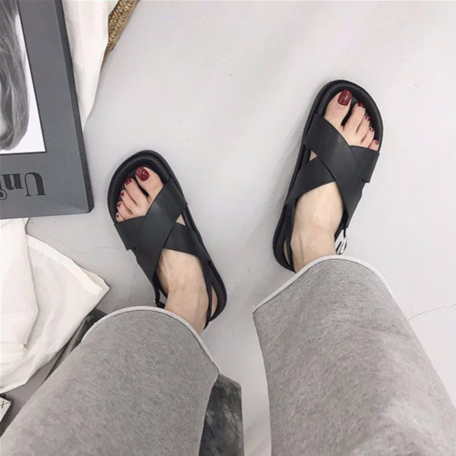 サンダル スポーツサンダル 靴 シューズ 厚底サンダル 歩きやすい カジュアル レディース 1