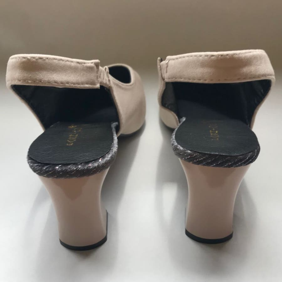 パンプス 靴 シューズ きれいめ ヒール 太ヒール スクエアトゥ レディース 5