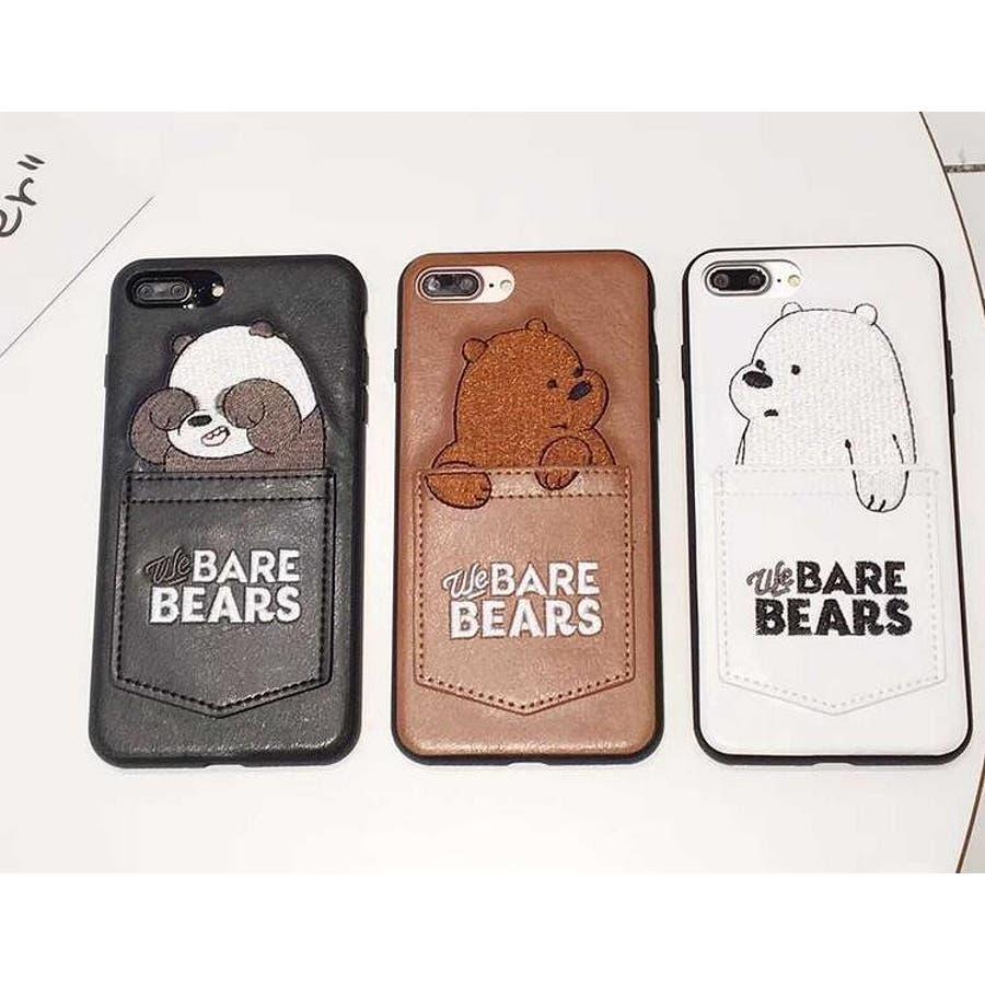 2aa8e07d71 人気 かわいい アニマル カード収納 クマ パンダ スマホケースiPhone6/6s ...