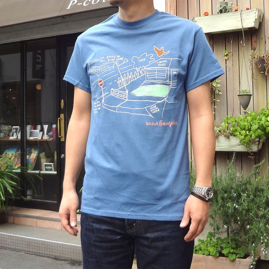 活躍度満点 メンズファッション通販Mark Gonzales マークゴンザレス Tシャツ メンズ スケートパーク 驀進