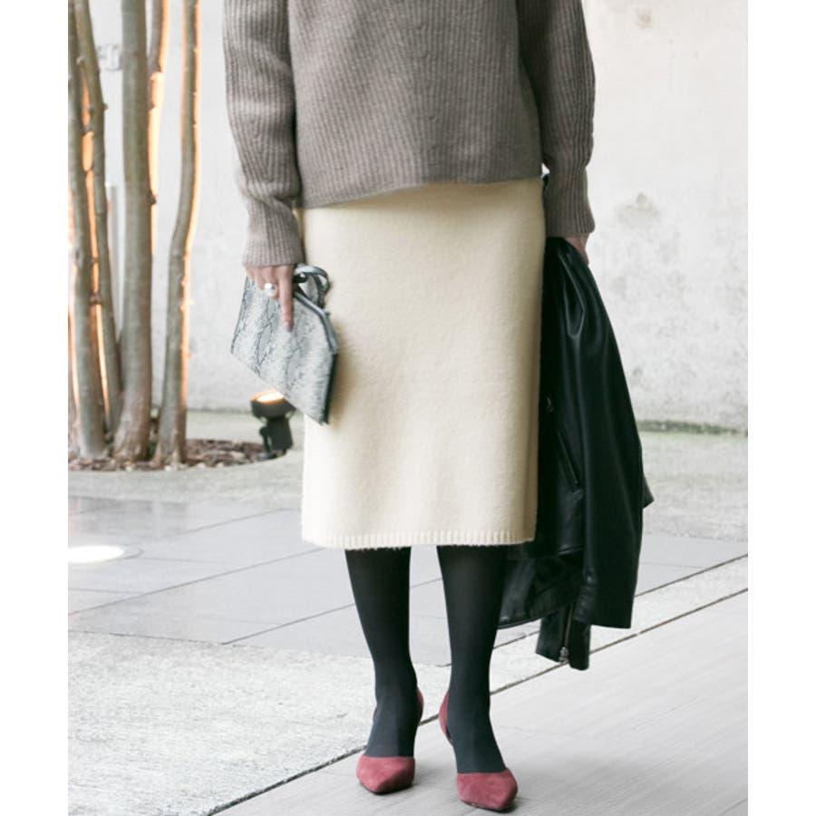 【WEB限定】ニュアンスカラーニットスカート 17
