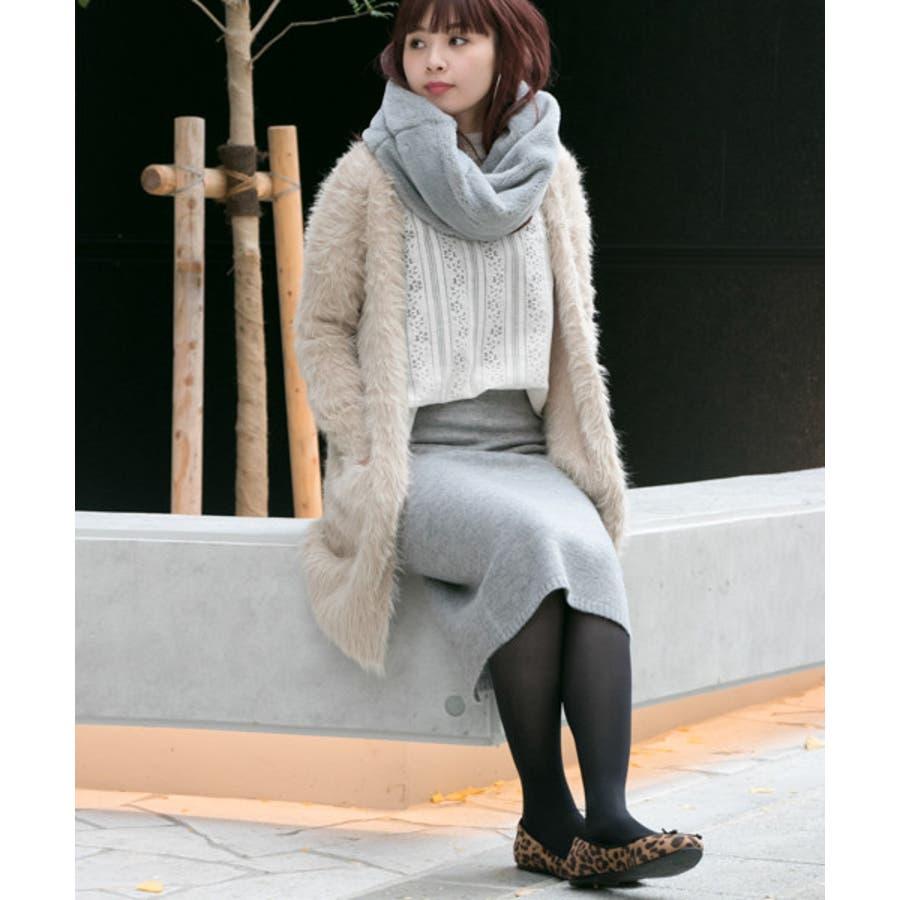 【WEB限定】ニュアンスカラーニットスカート 3