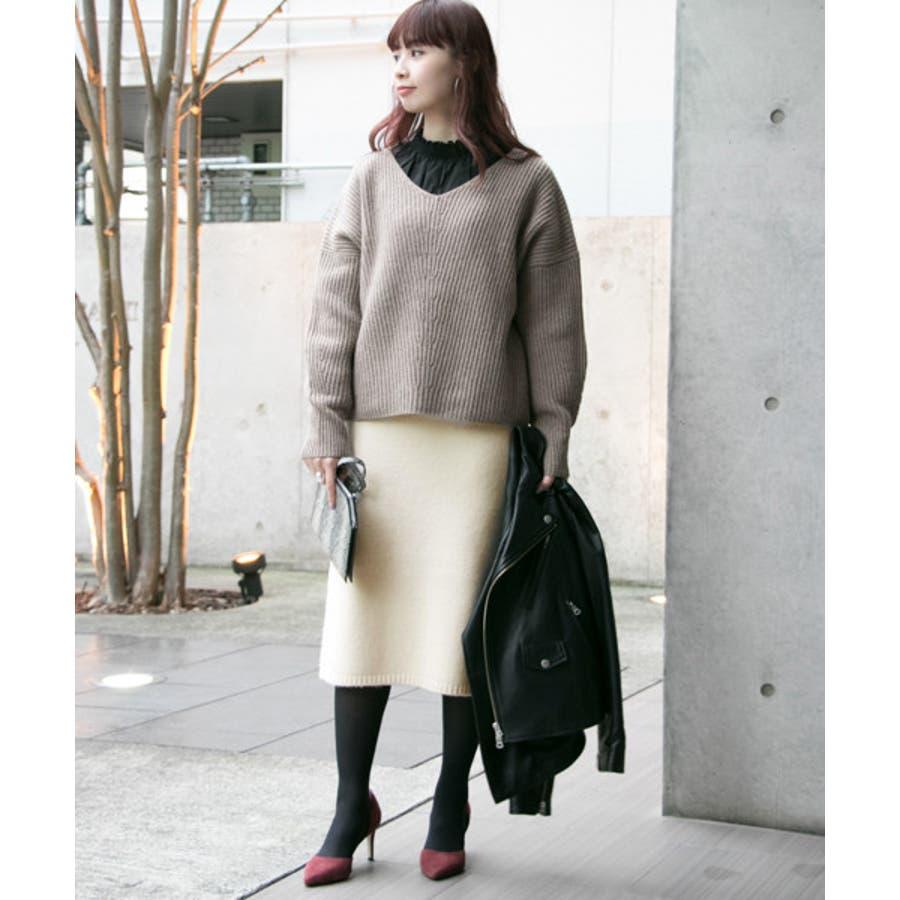 【WEB限定】ニュアンスカラーニットスカート 7