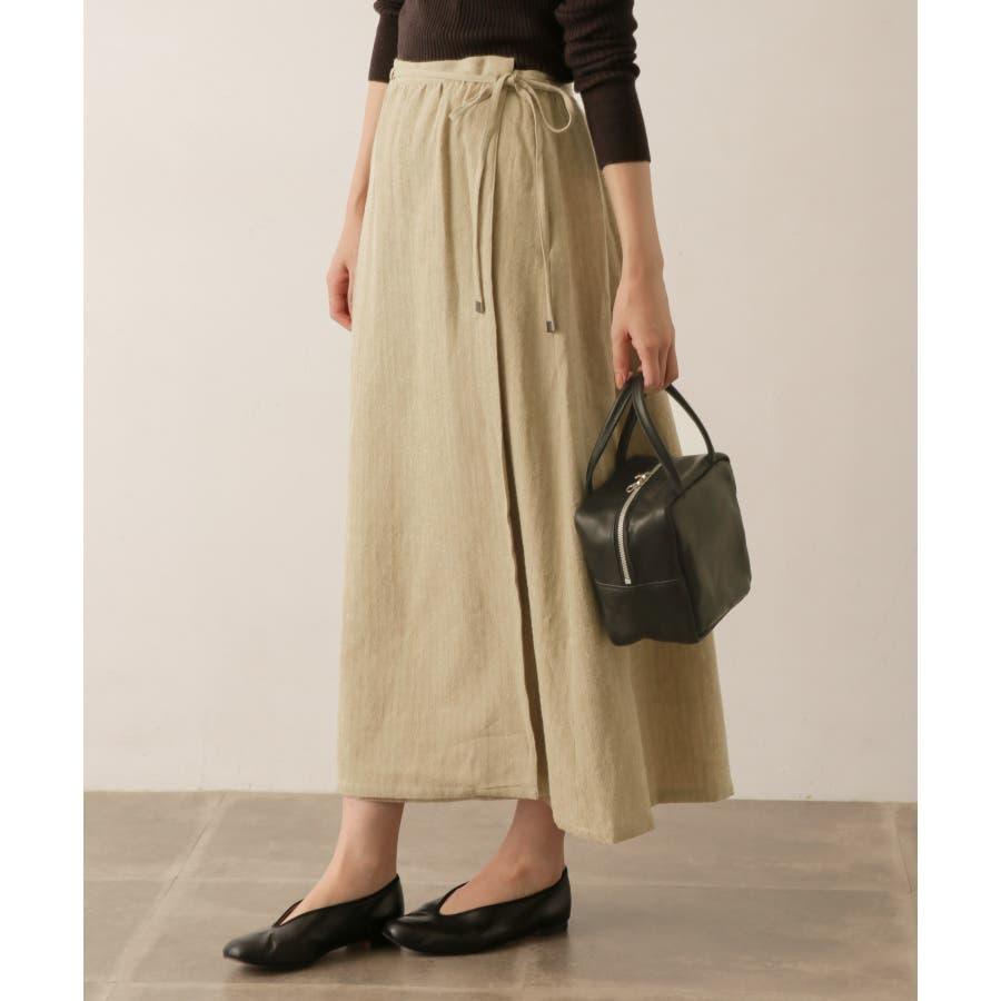 sigalm ウールリネンラップスカート 1