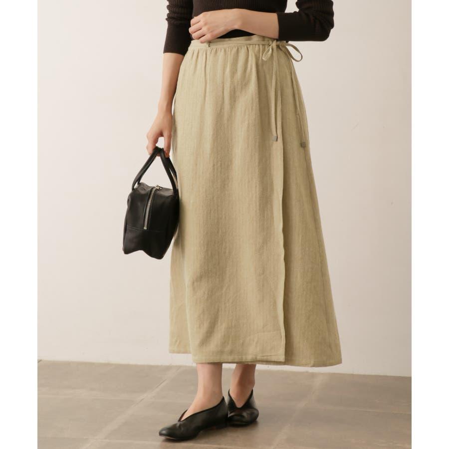 sigalm ウールリネンラップスカート 2