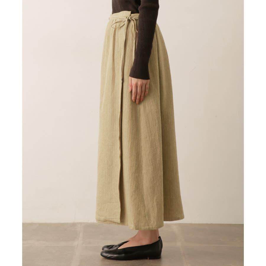 sigalm ウールリネンラップスカート 5